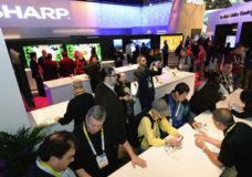 Sharp Electronics Booth 2015 International CES.