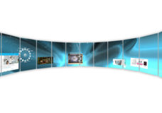 MultiTaction Debuts World's First Curved, Multi-User Interactive Wall at DSE 2015