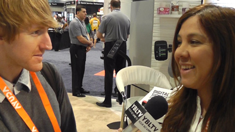 Ximena Sula, Latam and Carribean Regional Manager at Scala chats with YBLTV Anchor at Digital Signage Expo 2015.