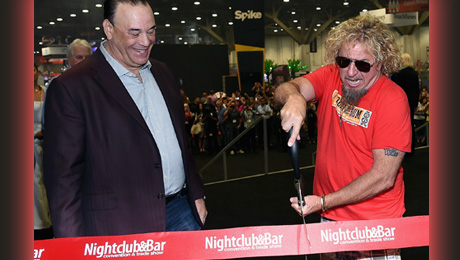 30th Annual Nightclub & Bar Convention And Trade Show - Day 2 LAS VEGAS, NV - MARCH 31: Nightclub & Bar Media Group President, host and Co-Executive Producer of the Spike television show 'Bar Rescue' Jon Taffer (L) and singer Sammy Hagar cut the opening ribbon during the 30th annual Nightclub & Bar Convention and Trade Show at the Las Vegas Convention Center on March 31, 2015 in Las Vegas, Nevada. (Photo by Ethan Miller/Getty Images for Nightclub & Bar Media Group)