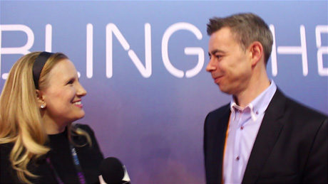Simon Frost, Ericsson's Head of Marketing and Communications chats with YBLTV Anchor, Erika Blackwell at the 2015 NAB Show.