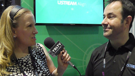 Ustream's VP of Marketing, David Gibbons chats with YBLTV Anchor, Erika Blackwell at the 2015 NAB Show.
