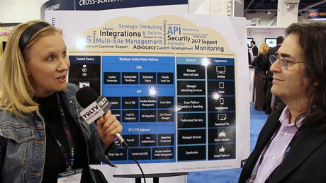 Worldnow's VP of Sales, Marc Mulgrum chats with YBLTV Anchor, Erika Blackwell at NAB 2015.