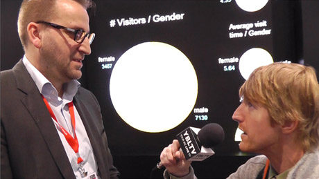 Carl Rusbrack, Vice President of Retail and Advertising at Barco chats with YBLTV Anchor, Eric Sheffield at the 2015 Digital Signage Expo.