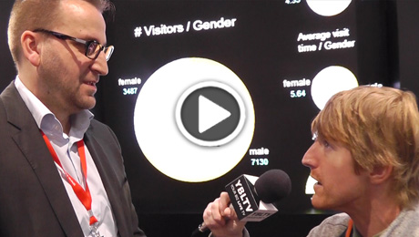 Carl Rusbrack, Vice President of Retail and Advertising at X2O Media chats with YBLTV Anchor, Eric Sheffield at the 2015 Digital Signage Expo.