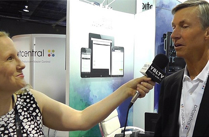 Bitcentral, Inc., CEO, Fred Fourcher chats with YBLTV Anchor, Erika Blackwell at NAB 2015.