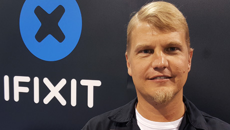 iFixit's Chief Tool Officer, Eric Essen.