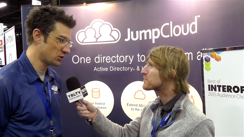 Gregory Keller, Chief Product Officer of JumpCloud chats with YBLTV Anchor, Eric Sheffield at Interop 2015.Gregory Keller, Chief Product Officer of JumpCloud chats with YBLTV Anchor, Eric Sheffield at Interop 2015.