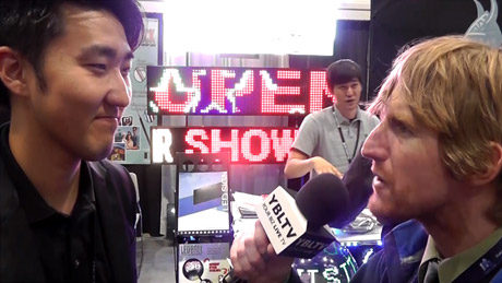 A part of IL Woo USA Co., Samsung LED Sign's, Manager, Paul Cho chats with YBLTV Anchor, Eric Sheffield.
