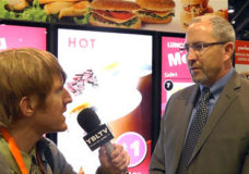 Brian McClimans, Vice President of Global Business Development for Peerless A/V chats with YBLTV Anchor, Eric Sheffield at the 2015 Digital Signage Expo.