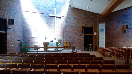 View of the sanctuary inside Good Shepherd Lutheran Church