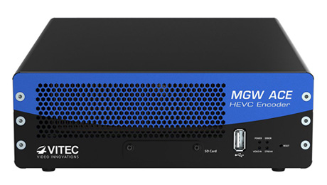 VITEC's MGW Ace Appliance Delivers Broadcast-Grade, Bandwidth-Efficient Encoding, Streaming, and Decoding From the Field.