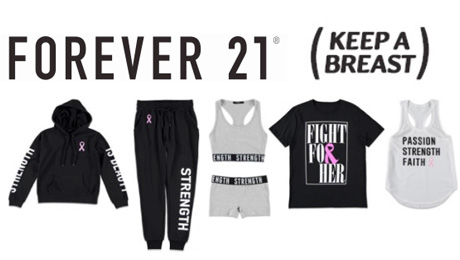 Forever 21 Launches Breast Cancer Awareness Collection In Partnership With the Keep a Breast Foundation