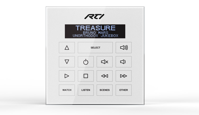 RTI WK2 In-Wall Keypad Combines Control Convenience With Stylish Water-Resistant Design