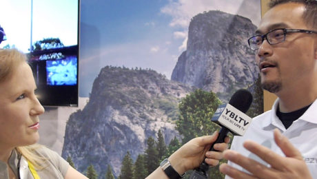Albert Lin, General Manager of EZVIZ, Inc. chats with YBLTV Anchor, Erika Blackwell at CES 2016.