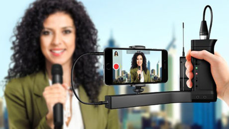 IK Multimedia Premiers iKlip A/V - The First Smartphone Broadcast Mount for Professional Mobile Audio and Video