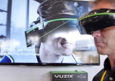 Vuzix' Director of Consumer Sales, North America, Mike Hallett at CES 2016.