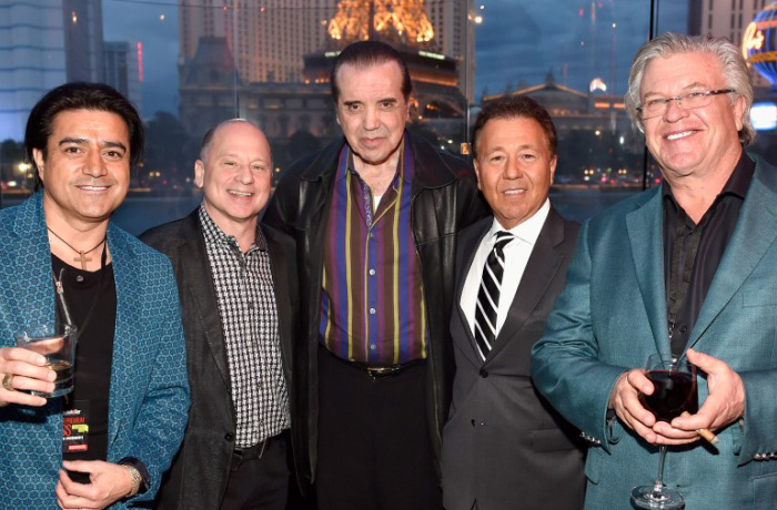 Comedian Alex Reymundo, Nightclub & Bar Advisory Board Vice Chairman Barry Gutin, actor Chazz Palminteri, Nightclub & Bar Advisory Board Vice Chairmen Thom Greco, and comedian Ron White. Getty Images for Nightclub & Bar.