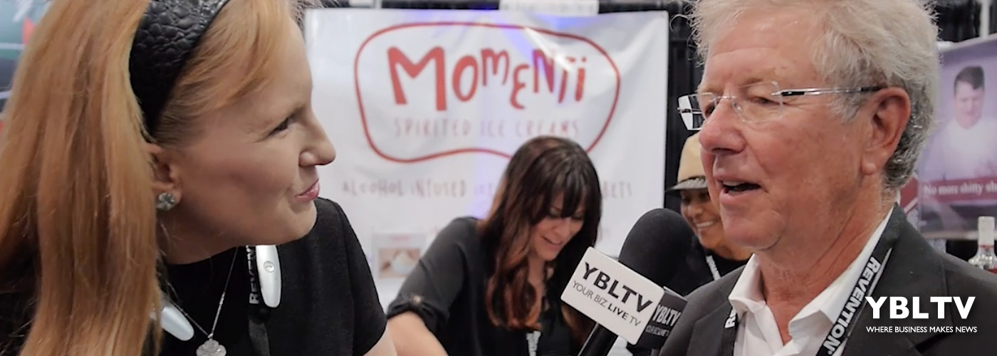 Niels Pearson, Momenti Spirited Ice Cream's Sales and Compliance chats with YBLTV Anchor, Erika Blackwell at NCB Show 2016.