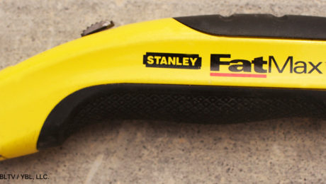 Stanley FatMax Retractable Utility Knife: YBLTV Review by Writer / Reviewer William R. McClure.