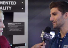 Epson America, Inc.'s Product Manager, New Markets, Michael Leyva chats with YBLTV Anchor, Erika Blacwell at the 2016 NAB Show. Source; YBLTV / YBL, LLC.