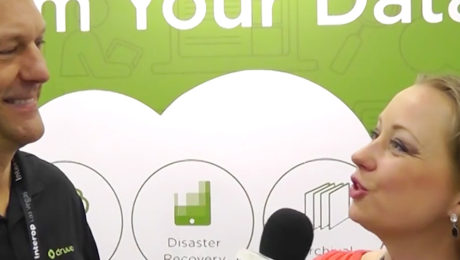 Druva Vice President of Product Marketing. Dave Packer chats with YBLTV Anchor, Dawn Church at Interop 2016. Source: YBLTV / YBL, LLC.