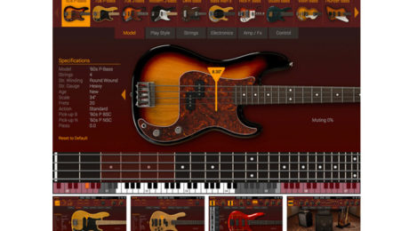 IK Multimedia Announces MODO Bass, the First Physically Modeled Electric Bass Virtual Instrument for Mac/PC.