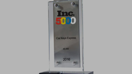 Inc Magazine Honors Car Keys Express as One of America's Fastest Growing Private Companies.