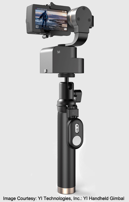 Image Courtesy: YI Technologies, Inc.: YI Handheld Gimbal.