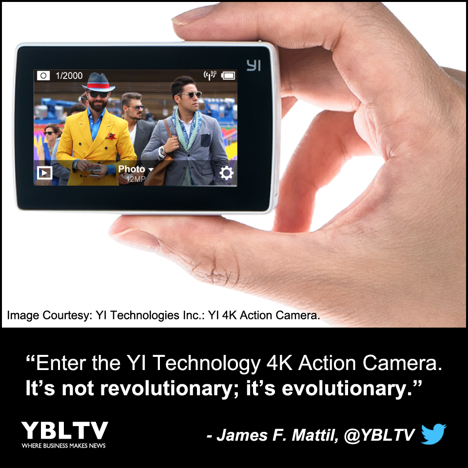 Image Courtesy: YI Technologies, Inc.: YI 4K Action Camera.