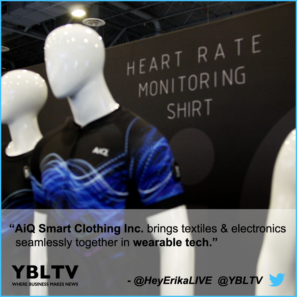 AiQ Smart Clothing Inc. Brings Textiles and Electronics Seamlessly Together in Wearable Tech.