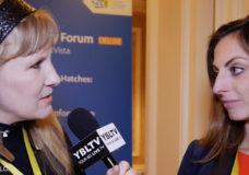CyberVista's Chief Cyberstrategy Officer, Simone Petrella with YBLTV Anchor, Erika Blackwell at CES 2017.