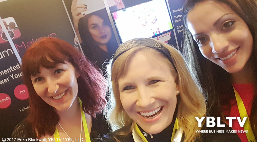 Perfect Corp.'s Stephanie Mansolf and Joanna Dominique King with YBLTV Anchor, Erika Blackwell at CES BeautyTech: YouCam Makeup Leads the Way in Augmented Reality Beauty.