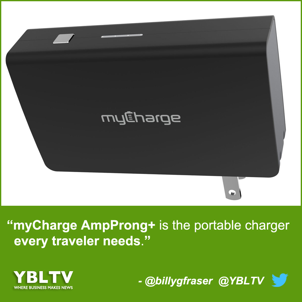 YBLTV William Fraser Review: myCharge AmpProng+ is the Portable Charger Every Traveler Needs.