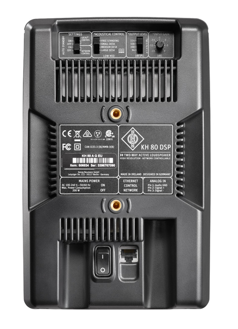 The rear panel of the KH 80 DSP.