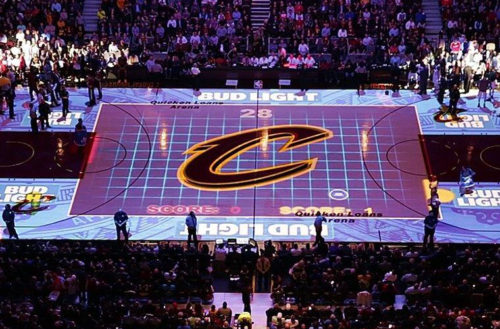 Christie Pandoras Box helps deliver interactive projection mapping show for  NBA champion Cleveland Cavaliers