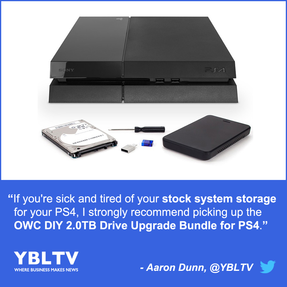 OWC 2.0TB Drive Upgrade Bundle for the PS4. Review by YBLTV Writer / Reviewer, Aaron Dunn.