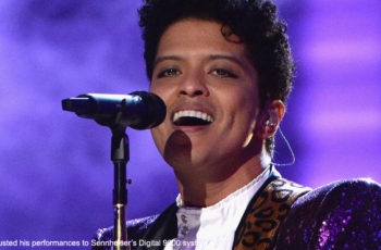 Bruno Mars entrusted his performances to Sennheiser's Digital 9000 system.
