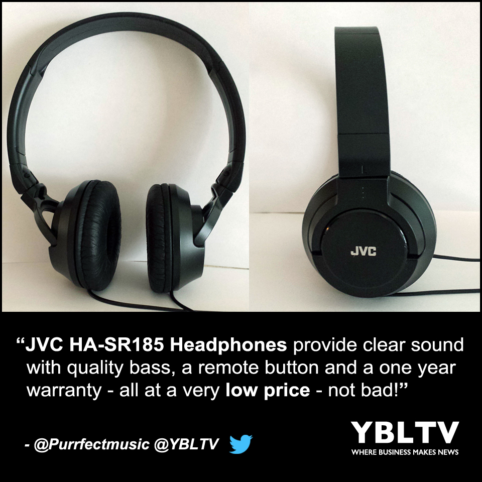 JVC HA-SR185 Headphones: YBLTV Review by LaMetra Miller.