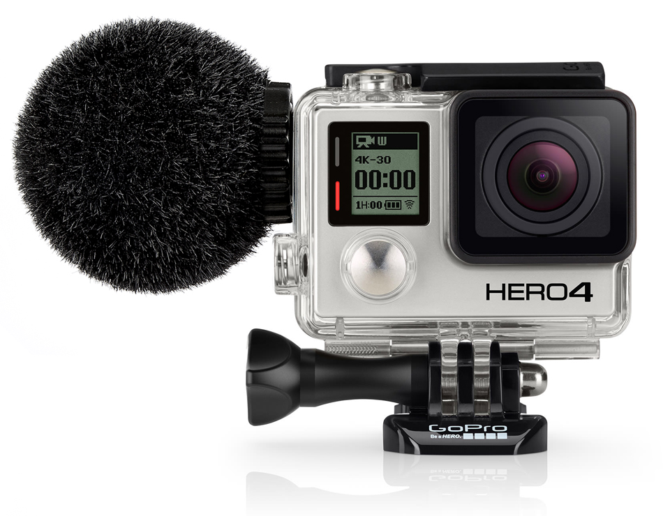 "The waterproof MKE 2 elements is the first microphone for the GoPro HERO4 camera to have obtained ""Works with GoPro"" verification."