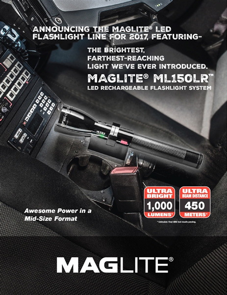 The MAGLITE® ML150LR™ LED Flashlight Rechargeable System Introduces Brightest, Farthest-Reaching Light