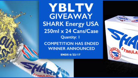 YBLTV Giveaway: YBLTV Giveaway: SHARK Energy USA - 250ml x 24 cans/case (Quantity: 1).