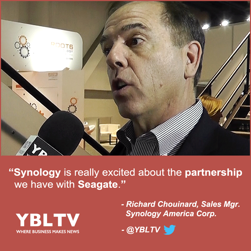 Synology America Corporation, Sales Manager, Richard Chouinard at NAB 2017.