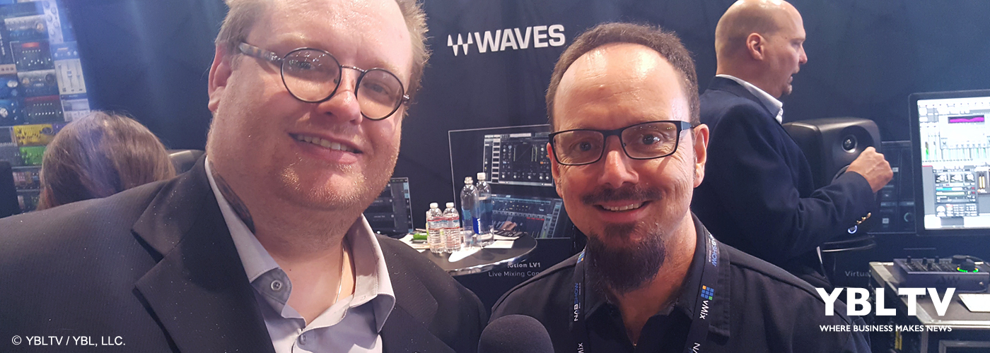 Waves Live Sales & Product Specialist, Kent Margraves chats with YBLTV Writer / Reviewer, Jack X at NAB Show, 2017.