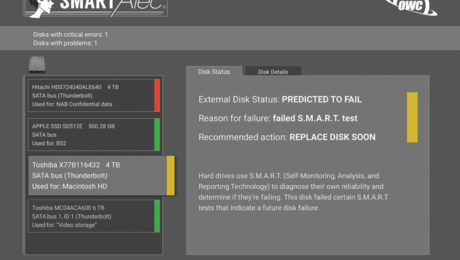SMART Alec Screen Shot - Drive Predicted to Fail