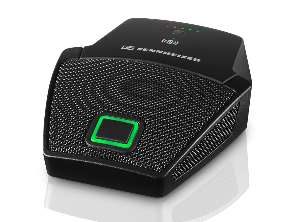 The SpeechLine Boundary 114-S DW wireless microphone is the newest extension for the TeamConnect conferencing system.