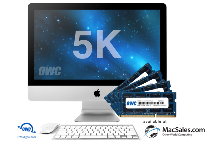 "MacSales.com Announces Availability of New Memory Upgrades up to 64GB for New iMac with 27"" Retina 5K Display Introduced at WWDC 2017"