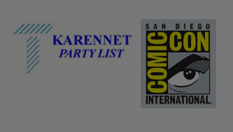 Thomas PR's Official KarenNet Comic-Con San Diego 2017 Party List