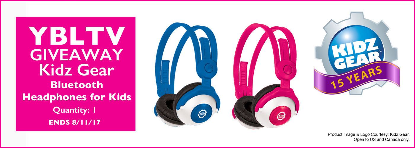 YBLTV Giveaway: Kidz Gear Bluetooth™ Wireless Stereo Headphones. Review by Jack X.