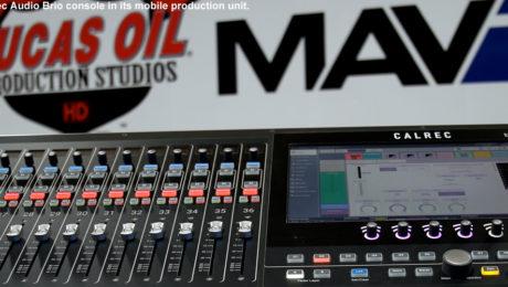 Lucas Oil is installing a Calrec Audio Brio console in its mobile production unit.